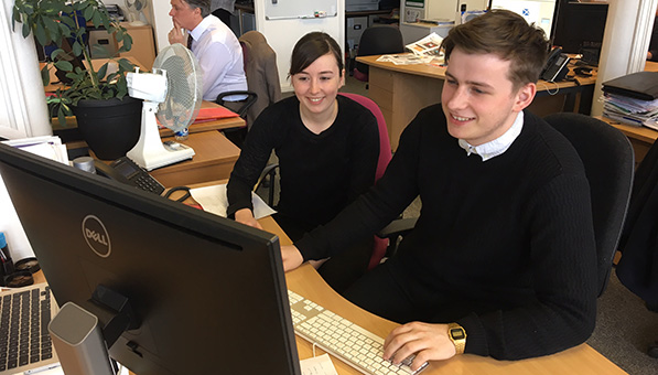 Jamie Anderson works with one of our web developers Kristina